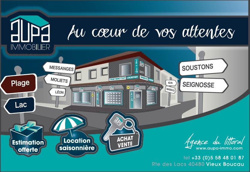 Agence Aupa logo_vieux boucau_landes atlantique sud